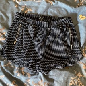 Striped Forever 21 Cloth Shorts